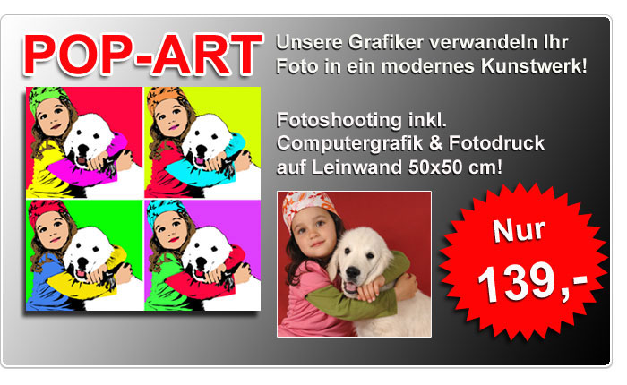 Pop-Art-Leinwand Fotografie